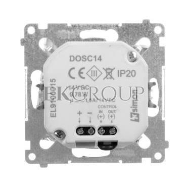 Simon 54 Oprawa oświetleniowa LED 14V z czujnikiem ruchu (0,42W) srebrny mat DOSC14.01/43-169155