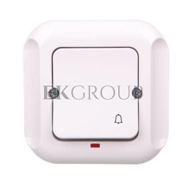TOPAZ Przycisk zwierny /dzwonek/ z podświetleniem biały WP-7T/S-170073