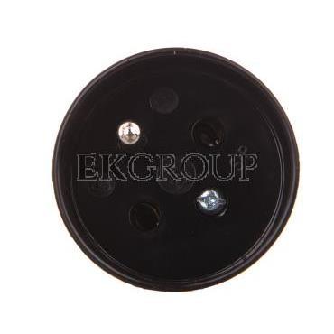 Gniazdo proste S 6 16 A 2P Z 250V czarne 32-12102.07-173997
