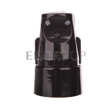 Gniazdo proste S 6 16 A 2P Z 250V czarne 32-12102.07-173998