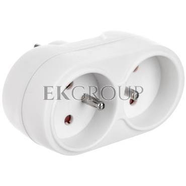 Rozgałęziacz wtyczkowy 2x2P Z biały AE-RU0102-00-172673