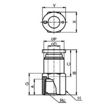 Szybkozłącze G-Fitting wtykowe proste Sang-A PCF