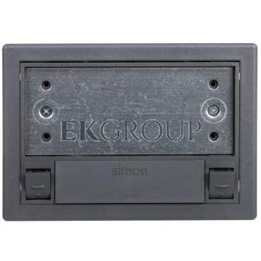 Simon Connect Puszka SF podłogowa pojedyncza 2xK45   SM102/9 szara SF110/1-166715