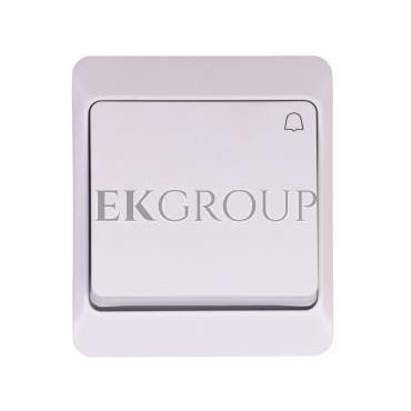 Hermes Przycisk dzwonek mechanizm z pełną obudową biały IP44 przycisk 1x ŁNT-1D 0337-02-169609