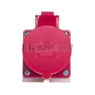 Gniazdo stałe 32A 4P 400V czerwone IP44 /mała obudowa/ 124-6k-167757
