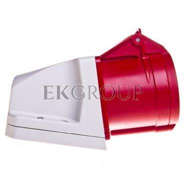 Gniazdo stałe 32A 4P 400V czerwone IP44 /mała obudowa/ 124-6k-167758