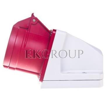 Gniazdo stałe 16A 4P 400V czerwone IP44 /mała obudowa/ 114-6k-167759