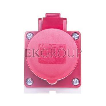 Gniazdo stałe 16A 4P 400V czerwone IP44 /mała obudowa/ 114-6k-167760