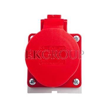 Gniazdo stałe 16A 5P 400V czerwone IP44 /mała obudowa/ 115-6k-167741