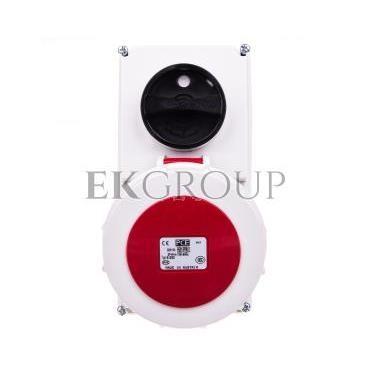 Gniazdo stałe z wyłącznikiem 0-1 małe 16A 5P 400V IP67 /blokada mechaniczna/ 61152-6-174952