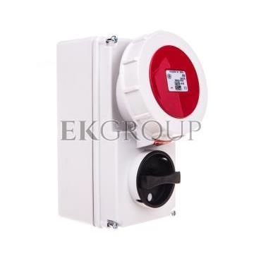 Gniazdo stałe z wyłącznikiem 0-1 małe 16A 5P 400V IP67 /blokada mechaniczna/ 61152-6-174953