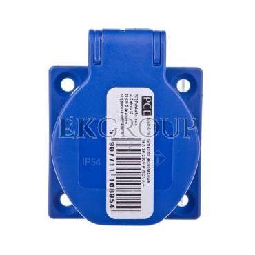 Gniazdo tablicowe 10/16A 2P Z 230V niebieskie IP54 1040-0bs-168250