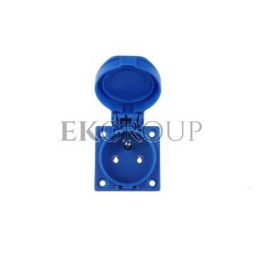Gniazdo tablicowe 10/16A 2P Z 230V niebieskie IP54 1040-0b-168218