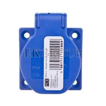 Gniazdo tablicowe 10/16A 2P Z 230V niebieskie IP44 1050-0bs schuko-168298