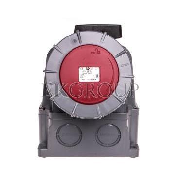 Zestaw instalacyjny z gniazdem 125A 5P (0-1) czerwony 145-6w-174948