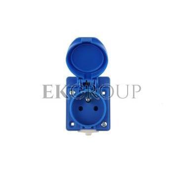 Gniazdo tablicowe 10/16A 2P Z 230V IP54 niebieskie /z puszką/ 104-0hp-168227