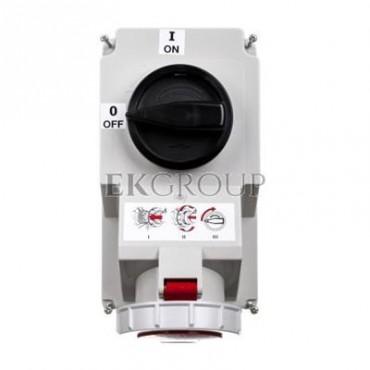 Gniazdo stałe z wyłącznikiem 0-1 duże 32A 5P 400V IP67 /blokada mechaniczna/ 75252-6-174959