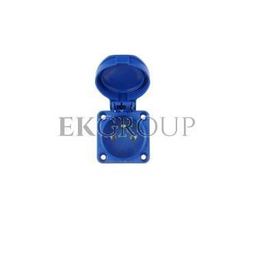 Gniazdo tablicowe 10/16A 2P Z 230V niebieskie IP54 104-0b-168231