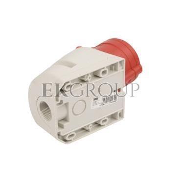 Gniazdo stałe 32A 4P 400V czerwone IP44 124-6-167718
