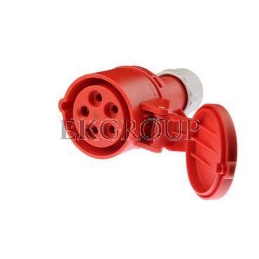 Gniazdo przenośne 16A 5P 400V czerwone IP44 SHARK 215-6-168002