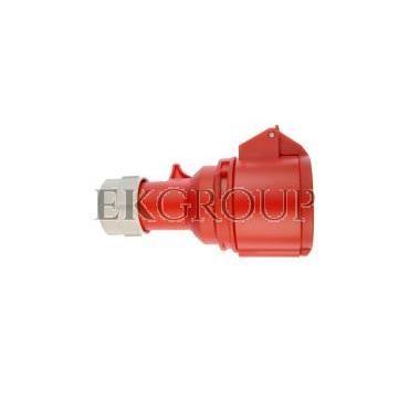 Gniazdo przenośne 16A 5P 400V czerwone IP44 SHARK 215-6-168003