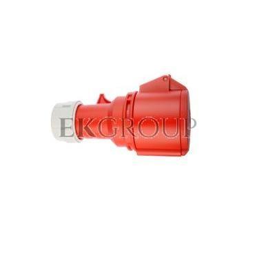 Gniazdo przenośne 32A 5P 400V czerwone IP44 SHARK 225-6-168004