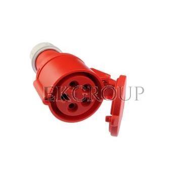 Gniazdo przenośne 32A 5P 400V czerwone IP44 SHARK 225-6-168005