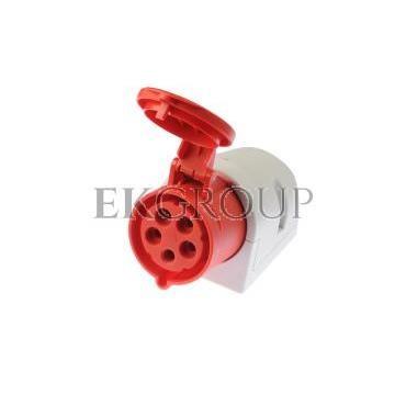 Gniazdo stałe 32A 5P 400V czerwone IP44 125-6-167726
