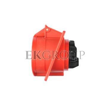 Gniazdo tablicowe skośne 32A 5P 400V /80x97/ czerwone IP44 TWIST 425-6-168236