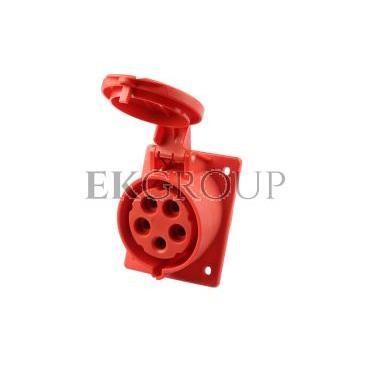 Gniazdo tablicowe skośne 32A 5P 400V /80x97/ czerwone IP44 TWIST 425-6-168237