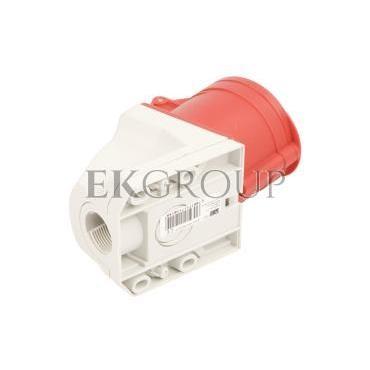 Gniazdo stałe 32A 5P 400V czerwone IP44 /mała obudowa/ 125-6k-167728
