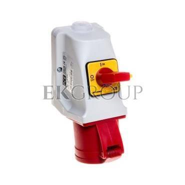 Gniazdo KOMBI z rozłącznikiem 0-1 M25 32A 5P 400V czerwone IP44 925-6w-174965