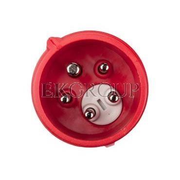 Wtyczka przenośna (zwrotnica faz) 16A 5P 400V czerwona IP44 SHARK 7015-6-175031