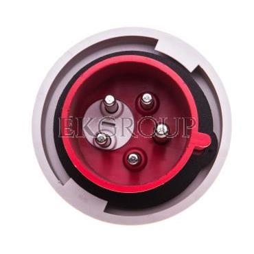 Wtyczka przenośna (zwrotnica faz) 32A 5P 400V czerwona IP67 SHARK 70252-6-175037