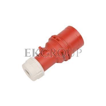 Wtyczka przenośna (zwrotnica faz) 32A 5P 400V czerwona IP44 TURBO SHARK 7025-6-175034