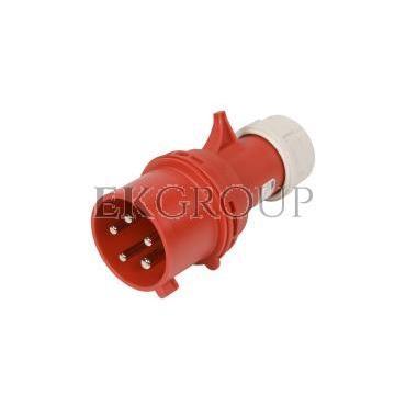 Wtyczka przenośna (zwrotnica faz) 32A 5P 400V czerwona IP44 TURBO SHARK 7025-6-175035