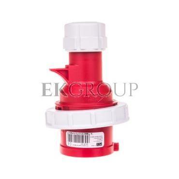 Wtyczka przenośna (zwrotnica faz) 16A 5P 400V czerwona IP67 SHARK 70152-6-175038