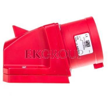Wtyczka przenośna (zwrotnica faz) 16A 5P 400V czerwona IP67 SHARK 70152-6-175039
