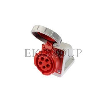 Gniazdo stałe 16A 5P 400V czerwone IP67 /bez dławnicy/ 1152-6-167733