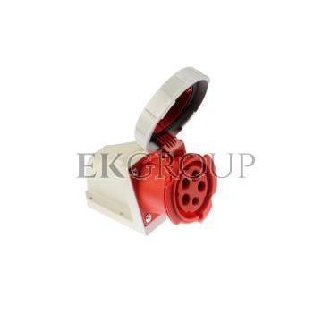 Gniazdo stałe 32A 5P 400V czerwone IP67 /bez dławnicy/ 1252-6-167735