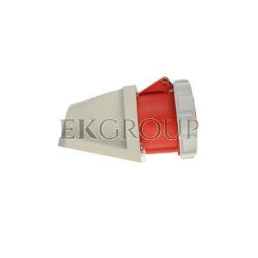 Gniazdo stałe 32A 5P 400V czerwone IP67 /bez dławnicy/ 1252-6-167736