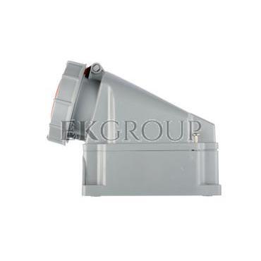 Gniazdo stałe 63A 5P 400V czerwone IP67 /bez dławnicy/ POWER TWIST 135-6-167737