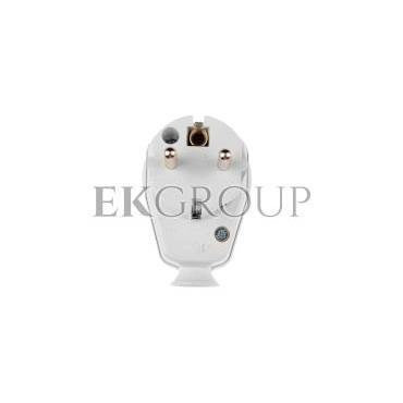 Wtyczka kątowa z wyłącznikiem i diodą 10/16A 2P Z IP20 biała 9002216-173851