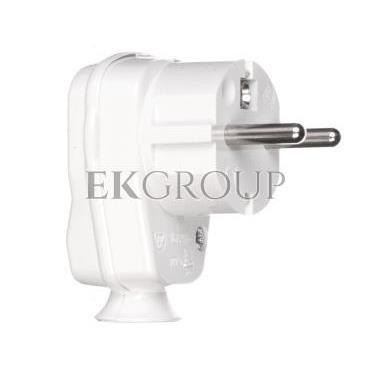 Wtyczka kątowa 10/16A 2P Z IP20 Uni-Schuko biała 9002214-173879
