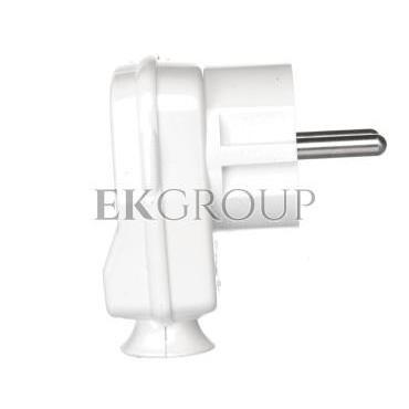 Wtyczka kątowa 10/16A 2P Z IP20 Uni-Schuko biała 9002214-173880