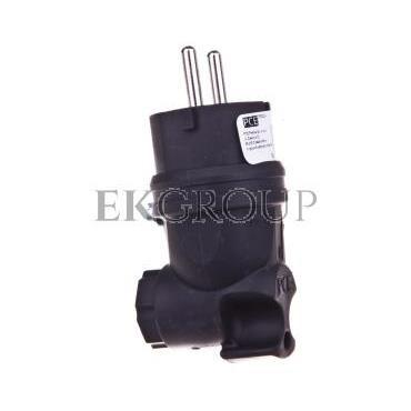 Wtyczka gumowa kątowa 10/16A 2P Z 230V UNI-SCHUKO IP44 /pełna guma/ TAURUS 05822-s-173881