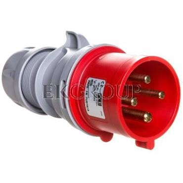 Wtyczka przenośna 32A 4P 400V czerwona IP44 TURBO SHARK 024-6TT-174013