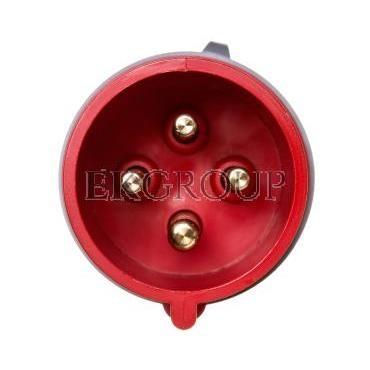 Wtyczka przenośna 32A 4P 400V czerwona IP44 TURBO SHARK 024-6TT-174014