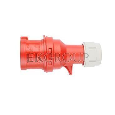 Wtyczka przenośna 16A 4P 400V czerwona IP44 SHARK 014-6-174020