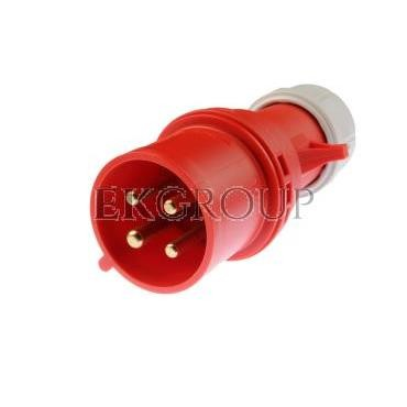 Wtyczka przenośna 32A 4P 400V czerwona IP44 SHARK 024-6-174023